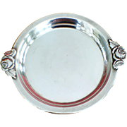 Vintage Sterling Rose Dish C:1945