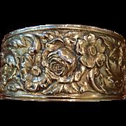 Kirk & Son Sterling 19F Repousse Cuff Bracelet C:1940