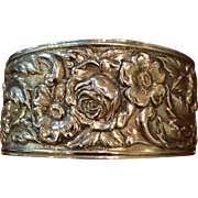 Kirk & Son Sterling 19F Repousse Cuff Bracelet C:1940