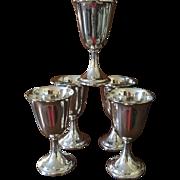 Set Of 5 Sterling Goblets By Dunkirk C:1950