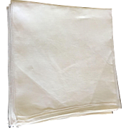 Set Of 12 Cream Linen Napkins