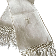 "Pair  Vintage Hand Tied Fringe ""Show Towels"""