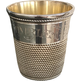 """Only A Thimble Full"" Sterling Jigger"