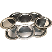 Set Of 8 Vintage Silver Plated Bread/Dessert Plates