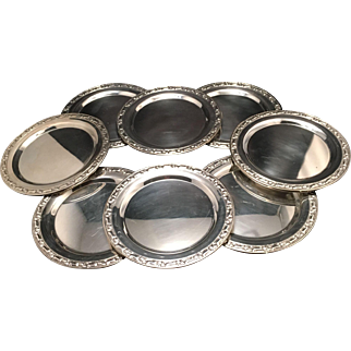 Set Of 8 Vintage Silver Plated Bread/Dessert Plates
