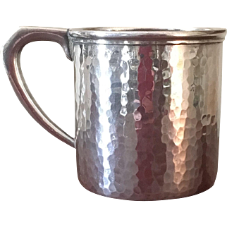 Hand Hammered Sterling Baby Cup