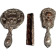 """Gorham Sterling Vanity/Dresser Set """"Victorian"""""""