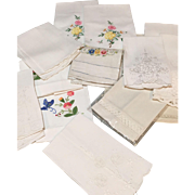 Lot Of 15 Various Size Guest Towels