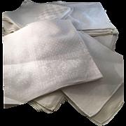 30 Oversized Damask Linen Napkins