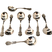 Set Of 8 Francis First Cream Soup Spoons