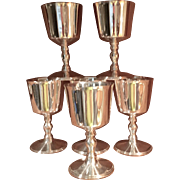 Set Of 6 Ellis Barker Wine Goblets