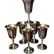 Set/6 Sterling Wallace #14 Goblets