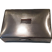 English Silver Plated Box
