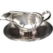 Gorham Sterling Gravy/Sauce Boat With Undertray
