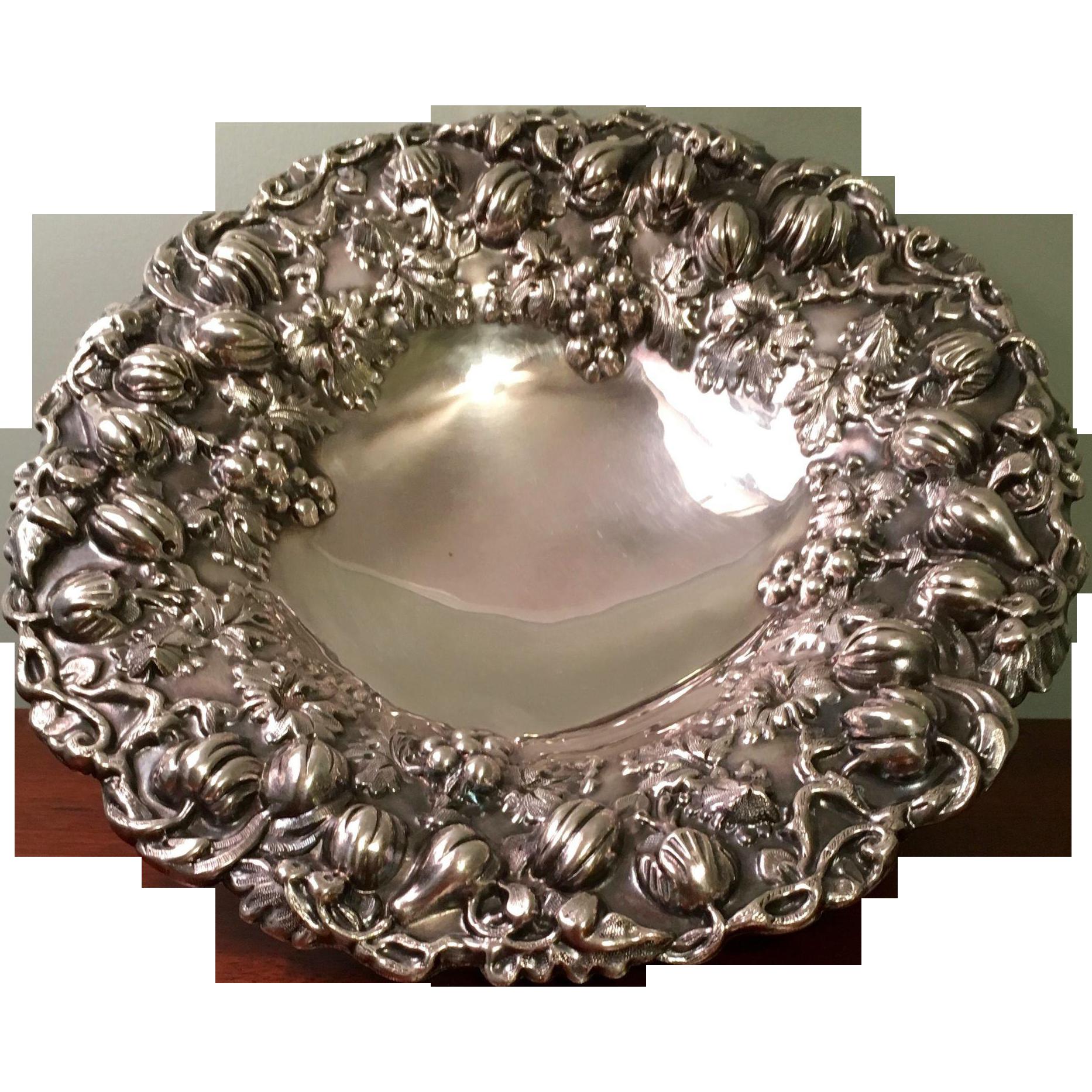Fancy Ellis Barker Centerpiece Bowl (2 Available)