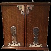 Antique English Oak Cigar/Tobacco Box/Humidor