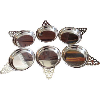 Sterling Traditional Handle Wine Coaster/Porringer (6 Available)