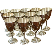 Set Of 12 Vintage International Goblets