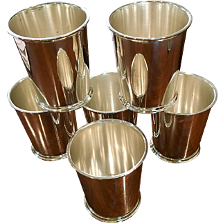 Set Of 6 Sterling Julep Cups (2 Sets Available)