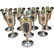 Set/8 Sterling Wallace #14 Goblets