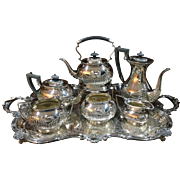 Six Pc. Silver Service Plus Tray