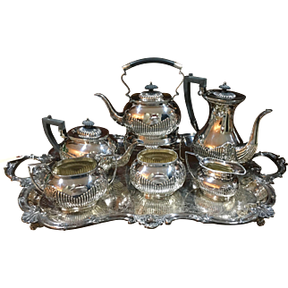 "English Six Pc. Silver Service In ""Kentshire"" Pattern"