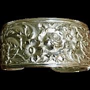 Kirk 19F Repousse Cuff Bracelet