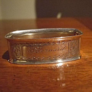 "Sterling Napkin Ring ""Bernard"" By Webster"