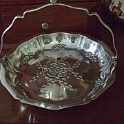 Silver Plated Cake/Bride's Basket By John Turton & Co