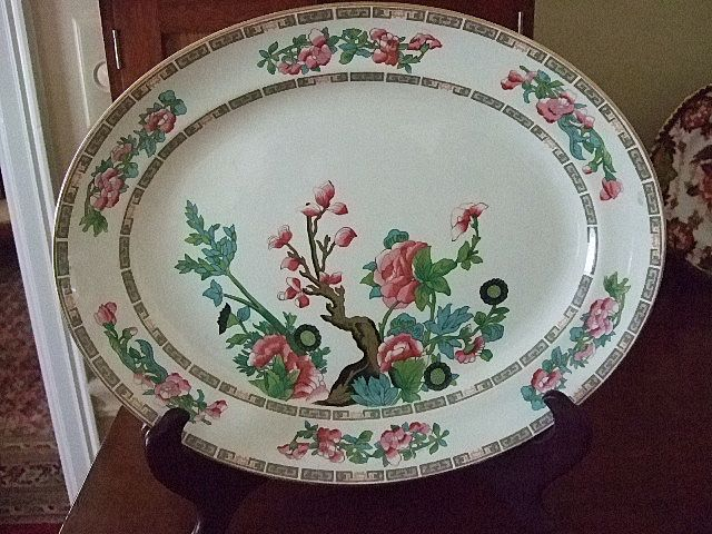 "English Keeling & Co. Ltd. ""Indian Tree"" Platter"