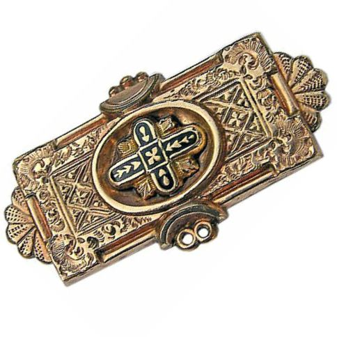 Antique Victorian 9K Rose Gold Brooch