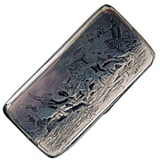 Antique Russian Silver Snuff Box