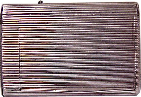 Antique Russian Silver Ribbed Cigarette Case