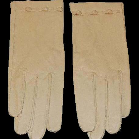 Vintage Soft Kid Leather Gloves