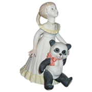 "Cybis Porcelain Figurine ""Goldilocks and Panda Bear"""