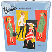 "1961 Mattel Barbie Doll Blue Vinyl ""Ponytail"" Carrying Case"