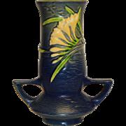 Roseville Pottery Freesia Delft Blue Vase
