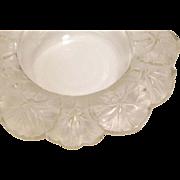 """Lalique Crystal Honfleur Geranium Large 8 1/2"""" Large Bowl"""