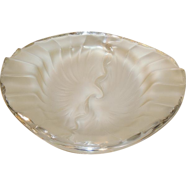 Lalique Crystal NANCY CENDRIER Signed Glass Bowl Ash Tray