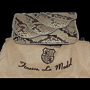 Vintage Finesse, La Model Snakeskin Convertible Clutch Handbag