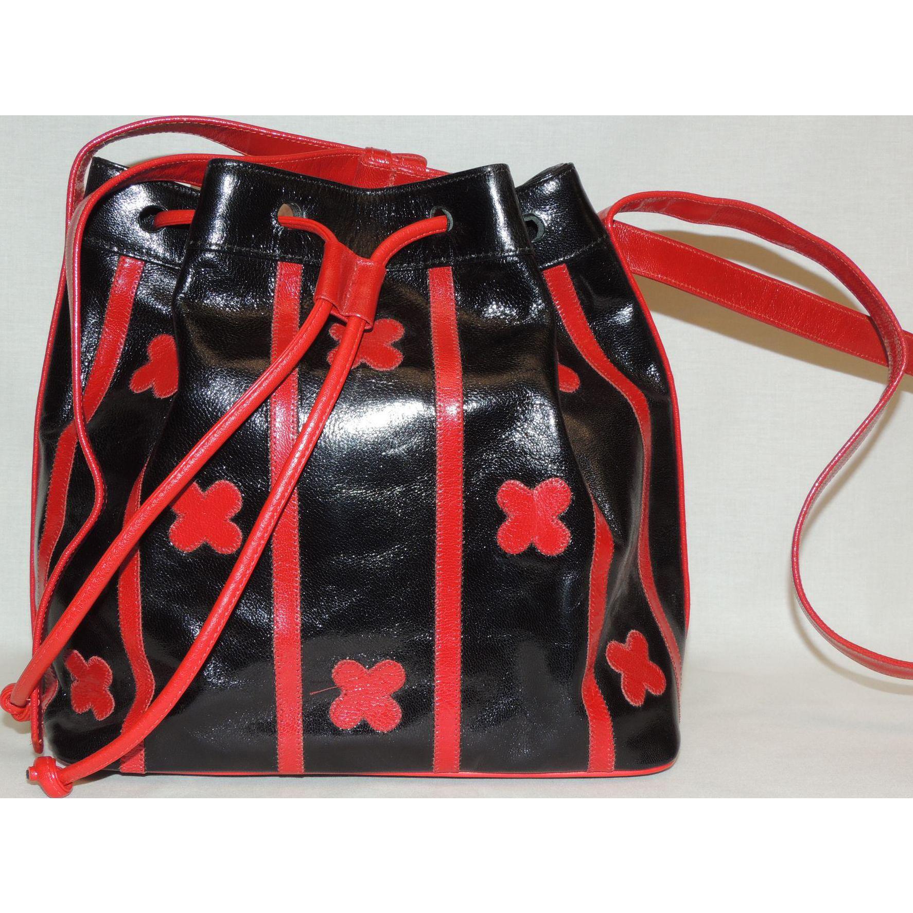 Vintage Carlos Falchi Bucket Style Purse Handbag