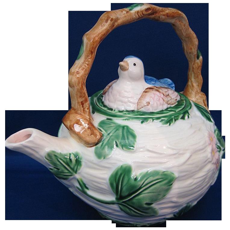 The Haldon Group 1986 Blue Bird Pattern Teapot