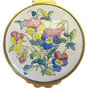 Kingsley Enamels Hand Painted Round Trinket Box
