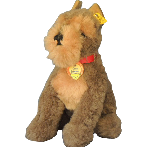 Steiff COSY SCHNAUZ  Schnauzer Dog Plush Vintage Toy with Tags