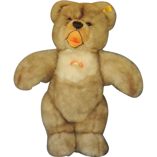 "Steiff MINKY ZOTTY Bear Plush Vintage 14"" Toy with Tags"