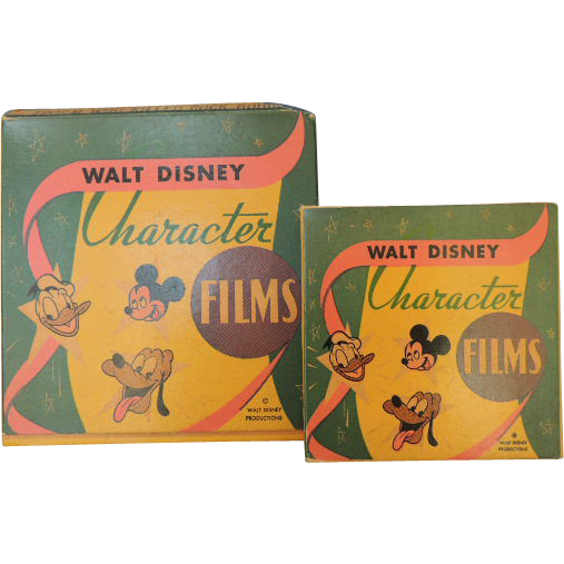 Vintage  Walt Disney Character Films Cartoon Movies  Set of 2 Cartoons