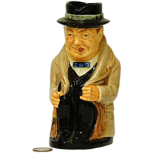 "Royal Doulton Winston Churchill 5"" Toby Character Mug - Red Tag Sale Item"