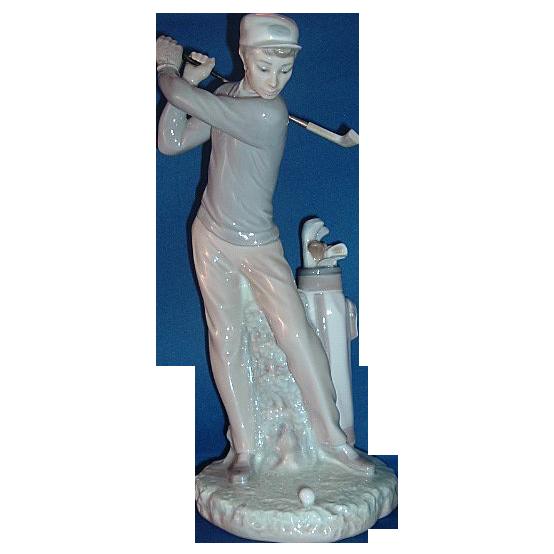 Lladro Porcelain GOLFER  #4824