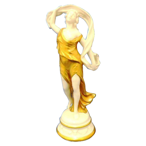 Made In Italy Gold Gilt Goddess Figurine Dancer