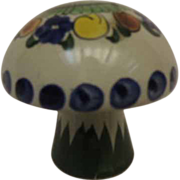 Talavera Folk Art Mexican Pottery Salt Shaker Mushroom